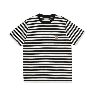 Carhartt WIP Parker Stripe Pocket T-Shirt - Black Wax