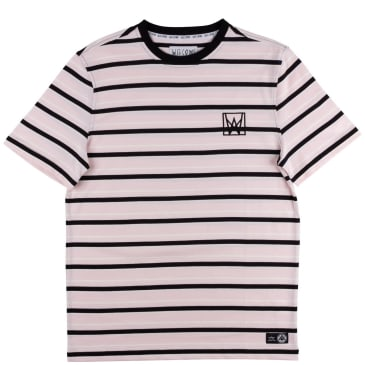 Welcome Skateboards Icon Stripe Yarn Dyed Knit T-Shirt - Light Pink