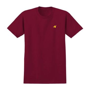 krooked og bird embroidered tee (cardinal)