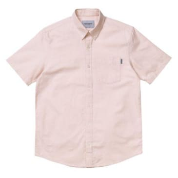 Carhartt WIP S/S Button Down Pocket Shirt - Powdery
