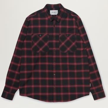 Carhartt WIP Darren Check Shirt (Bordeaux)