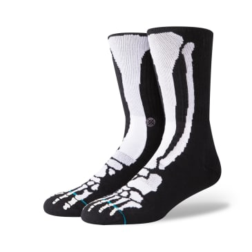 Stance Bones 2 Socks - Black/Glow In The Dark