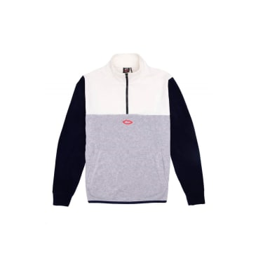 Sex Skateboards 3 Way Quarter Zip - Off White/Navy Grey