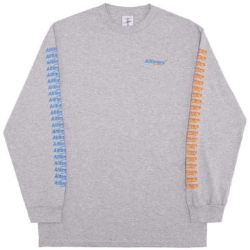 Alltimers Count It Up Long Sleeve T-Shirt - Heather Grey