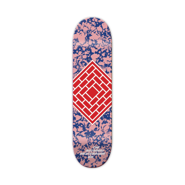 The National Skateboard Co. Classic Pink Skateboard Deck - 8.25""