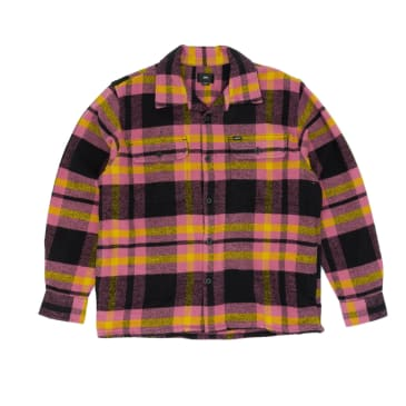 Obey Fitzgerald Woven Over Shirt - Burnt Brick/Multi
