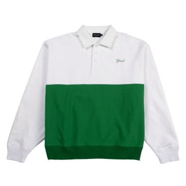 Grand Collection Collared Sweatshirt Kelly Green/White
