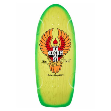 Dogtown Skateboards OG Big Foot Skateboard Deck 11.875 - Green/Yellow Fade
