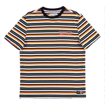 Welcome Skateboards Surf Stripe Yarn Dyed T-Shirt - Sunrise