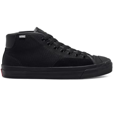 Converse Cons Jack Purcell Pro Mid Skate Shoes - Black / Enamel Red / Black
