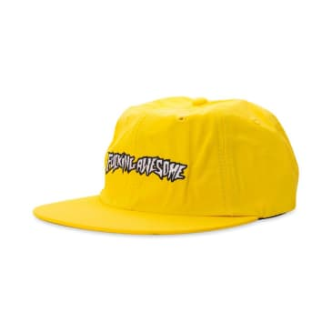 fucking awesome outline logo cap (yellow)