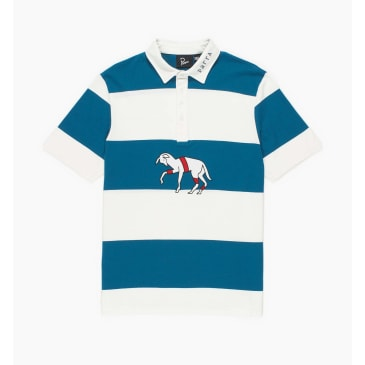 by Parra - striped goat polo shirt