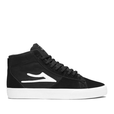 Lakai Newport Hi Suede Skate Shoes - Black