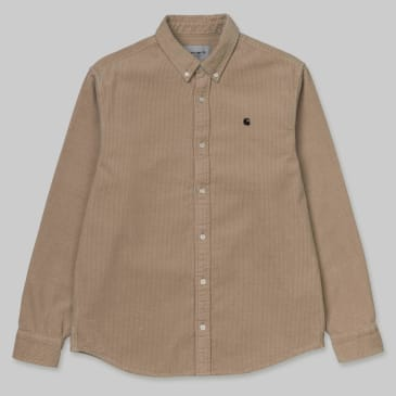 Carhartt WIP - Madison Cord Shirt - Wall / Black