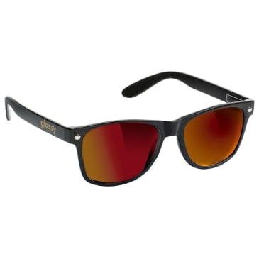 Glassy Leonard Sunglasses - Black / Red Mirror