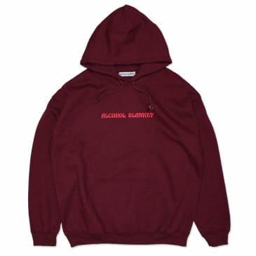 Alcohol Blanket - Alcohol Blanket Pullover Hooded Sweatshirt - Maroon
