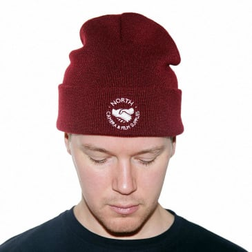 North Supplies Logo Beanie - Burgundy