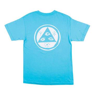 Welcome Talisman Mono T-Shirt - Blue-White Puff Print