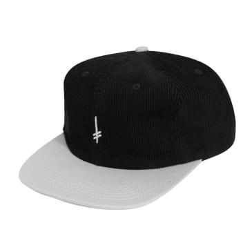 Deathwish Skateboards Gang Logo Corduroy Snapback Cap - Black