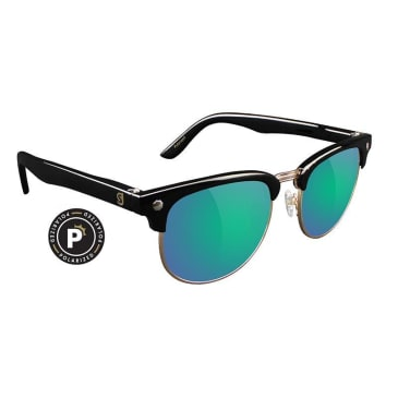Glassy Morrison Polarized Black/Blue Mirror