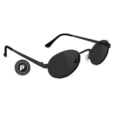 Glassy Zion Polarized Sunglasses - Black / Black