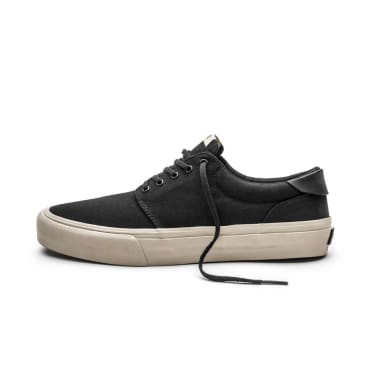 Straye Fairfax Shoes - Black/Bone Canvas