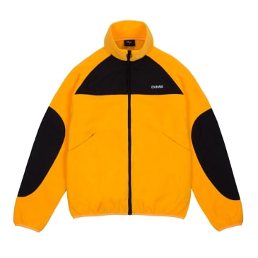 Dime Polar Fleece Track Jacket - Gold/Black