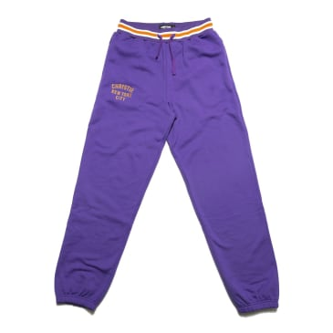 Chrystie NYC - Varsity logo sweatpants_Purple