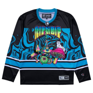 Rip N Dip Psychedelic Hockey Jersey Top - Multi