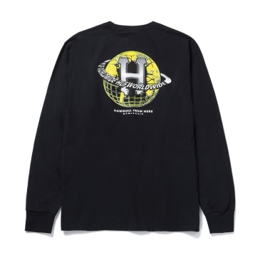 HUF Giga Melted Long Sleeve T-Shirt - Black