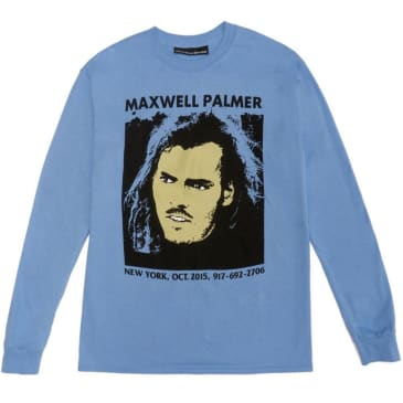 Call Me 917 Maxwell Palmer Long Sleeve T-Shirt - Blue