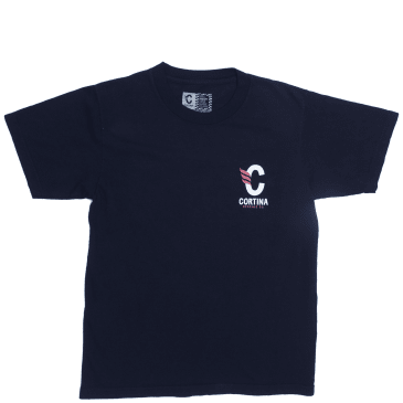 Cortina Bearing Co Stack Logo T-Shirt - Navy