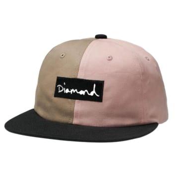 Diamond Supply Co. Split Script Strapback Hat - Pink