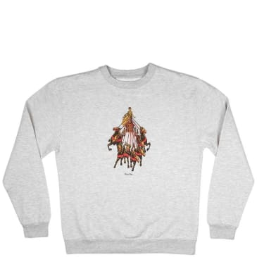 Pass~Port State Horses Sweater - Heather Grey