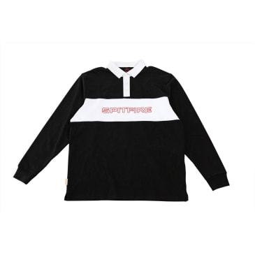 SPITFIRE Rugby Geary Longsleeve Black/White
