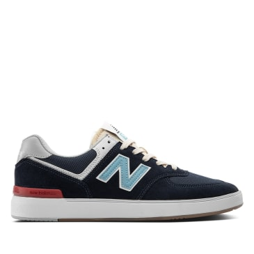 New Balance Numeric All Coasts 574 Skate Shoe - Navy / Blue / White