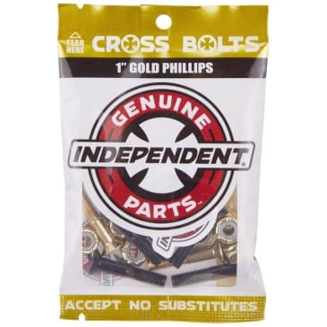 "Independent - Cross Bolts 7/8"" Phillips Black/Gold"