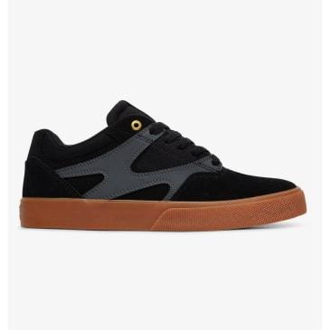 DC Kalis Vulc Skate Shoes - Black / Grey