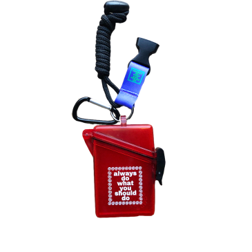 always do what you should do - clear red lanyard case