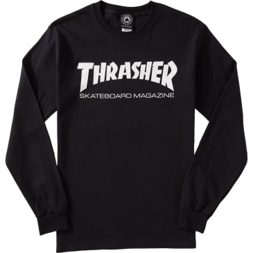 Thrasher Long Sleeve Tee Skate Mag Black