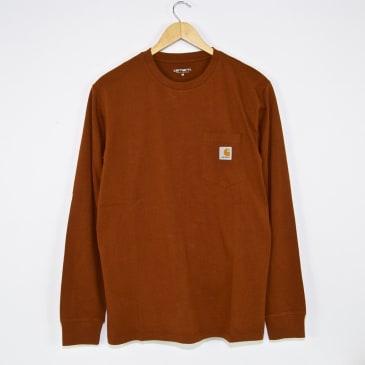 Carhartt WIP - Pocket Longsleeve T-Shirt - Brandy