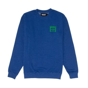 Hockey Budget Video Crewneck Heather Navy