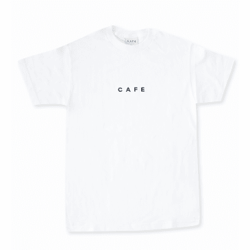 Skateboard Cafe Embroidered T-Shirt White