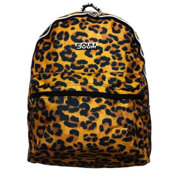 Fake Scum Leopard Print Backpack