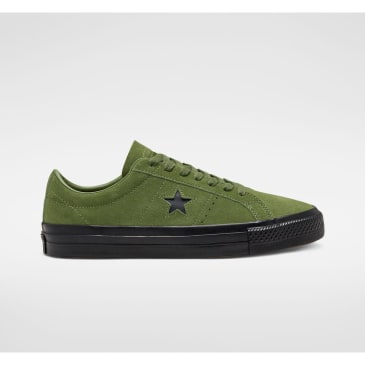 Converse Cons One Star Pro Suede Skate Shoes - Cypress Green / Black / Black