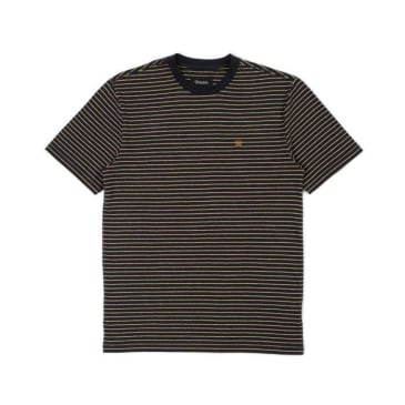 Brixton Hilt S/S Knit Black/Honey