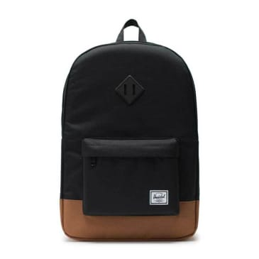 Herschel Supply Co. Heritage Backpack - Black / Saddle Brown