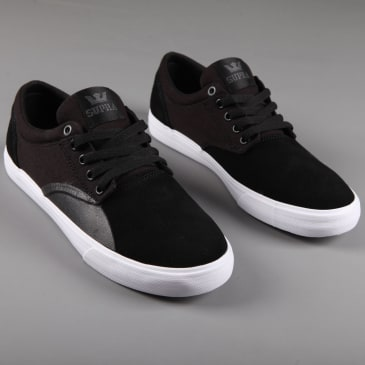 Supra 'Chino' Skate Shoes (Black / Black - White)