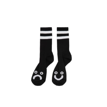 Polar Skate Co. Happy Sad Socks Black