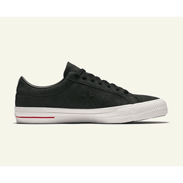 CONVERSE ONE STAR PRO - BLACK WHITE RED